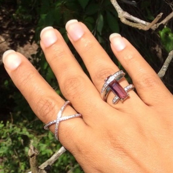 EvolvingAlways Jewelry - New 925 Stamped Sterling Silver X Ring